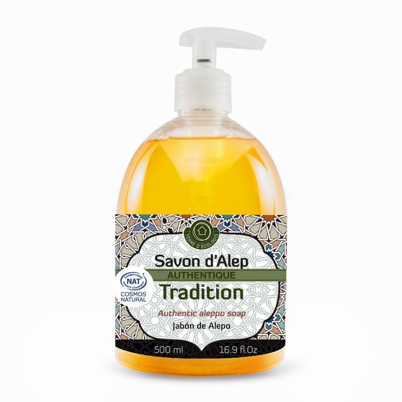 Savon d'Alep Liquide Authentique Tradition 500mL