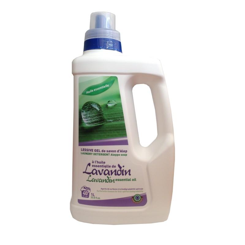 Lessive gel de savon d'Alep à l'huile au lavandin